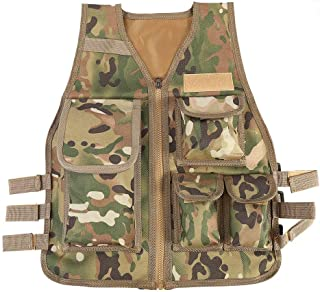 Children Tactical Vest Nylon Shooting Hunting Molle Clothes CS Game Field Combat Training Protective Vest(CP)