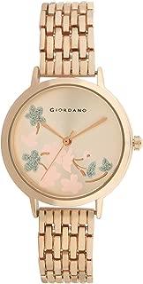 Giordano Analog Rose Gold Dial Women's Watch-C2164-22