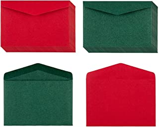 120 Pack Kraft Mini Envelopes Christmas Red and Green Envelopes Self-Adhesive Tiny Pockets for Holiday Small Gift Cards Invitations Business Notes(4.13