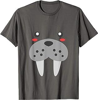 Visage De Morse Joli Walrus Animal Costume Cadeau T-Shirt
