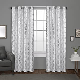 Exclusive Home Curtains Modo Grommet Top Panel Pair, Winter White , 54x108, 2 Piece