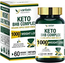 Keto Pills, 60 Capsules Fat Burner & Weight Loss BHB Supplement Formula Keto Burn Diet Pills, Women Men Appetite Suppressa...