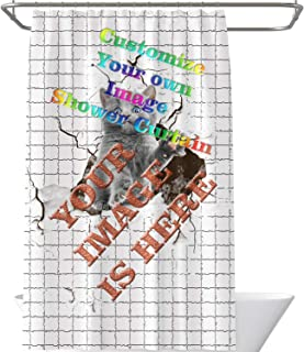 Personalized DIY Custom Fabric Shower Curtain (66 x 72) - Add Your Own Designs Photo Here, Customize Your own Image Shower...