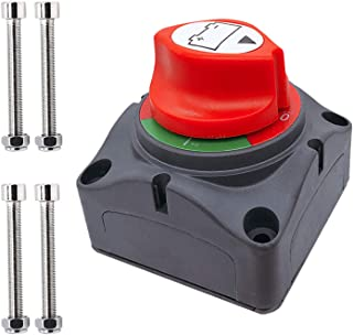 Ampper Battery Switch, 12-48 V Battery Power Cut Master Switch Disconnect Isolator for Car, Vehicle, RV and Boat (On/Off)