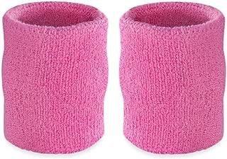 4 Inch Arm Sweatbands - Thick Cotton Armbands for Gymnastics, Basketball, Tennis, Football