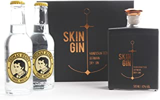 SKIN GIN - Edition Anthrazit   Anthrazit Box 1x0,5 Liter - Vol 42%   2x 0,2L Thomas Henry Tonic Water