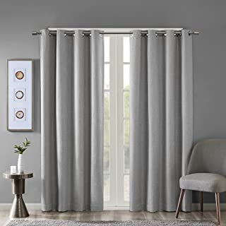 """Blackout Curtains For Bedroom 50x95"""" Grey SS40-0029"""