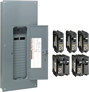 Square D by Schneider Electric HOM3060M150PCVP Homeline 150 Amp 30-Space 60-Circuit Indoor Main Breaker Load Center with Cover - Value Pack (Plug-on Neutral Ready),