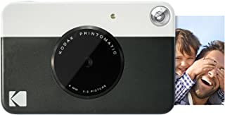 Kodak Printomatic - Cámara de impresión instantánea imprime en Papel Zink 5 x 7.6 cm con respaldo adhesivo negro