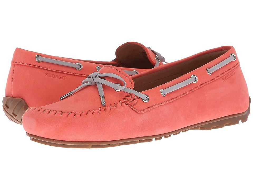 Sebago Harper Tie (Coral Nubuck) Women's Shoes
