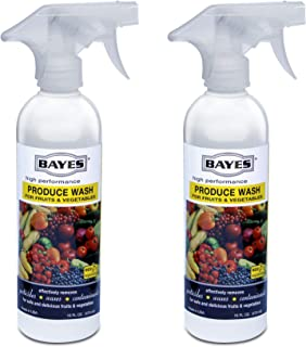Sponsored Ad - Bayes High-Performance Natural Plant Based Produce Wash - Fruit and Vegetable Cleaner, Removes Harmful Resi...