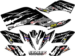 Senge Graphics kit compatible with Kawasaki 2004-2009 KFX 700, Shredder Black Graphics Kit