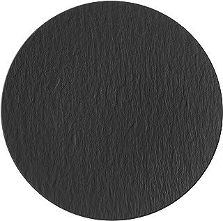 Villeroy & Boch Manufacture Rock Plato para pizza Porcelana Premium, Negro (Rock), 32 cm