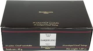 DAMMANN FRERES Darjeeling Black Tea, 24 Cristal Teabags