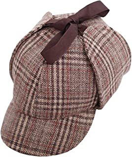 Men's British Style Deerstalkers Cotton Detective Hat