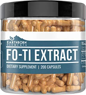 Fo-Ti Extract, 200 Capsules (550 MG per Serving) (200-Day Supply) by Earthborn Elements Natural, Immune System Boosting*, ...