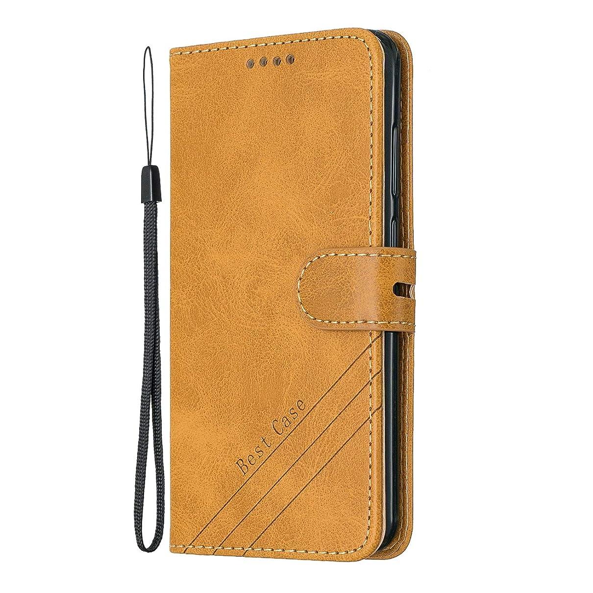 爬虫類口実宿るLomogo Huawei P10 Lite ケース 手帳型 耐衝撃 レザーケース 財布型 カードポケット スタンド機能 マグネット式 ファーウェイP10Lite 手帳型ケース カバー 人気 - LOHEX120330 黄