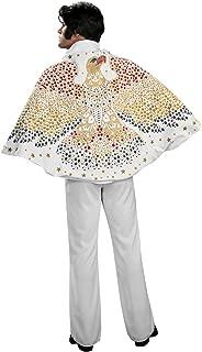 OvedcRay Licensed Elvis Presley Adult Mens 50'S Costume Cape W/ Eagle Rock N Rolls White