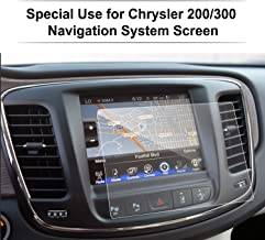 Chrysler 200/300 / Pacifica 8.4 Inch Glass Car Navigation Screen Protector, LFOTPP [9H] Tempered Glass Infotainment Center Touch Screen Protector Anti Scratch High Clarity