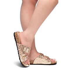 86ad1268e Herstyle Softey Women s Comfort Buckled Slip on Sandal Casual .