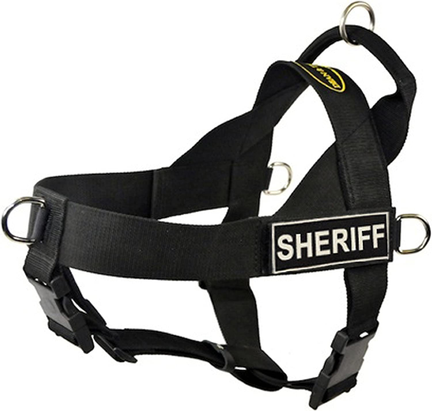 DT Universal No Pull Dog Harness, Sheriff, Black, XLarge  Fits Girth Size  91cm to 119cm