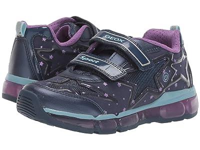 Geox Kids Jr Android 24 (Little Kid/Big Kid) (Blue/Purple) Girls Shoes
