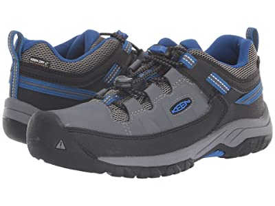 Keen Kids Targhee Low WP (Little Kid/Big Kid) (Steel Grey/Baleine) Boy