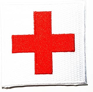 American Red Cross Medic First Aid Nurse Doctor Emergency logo patch Jacket T-shirt Sew Iron on Patch Badge Embroidery