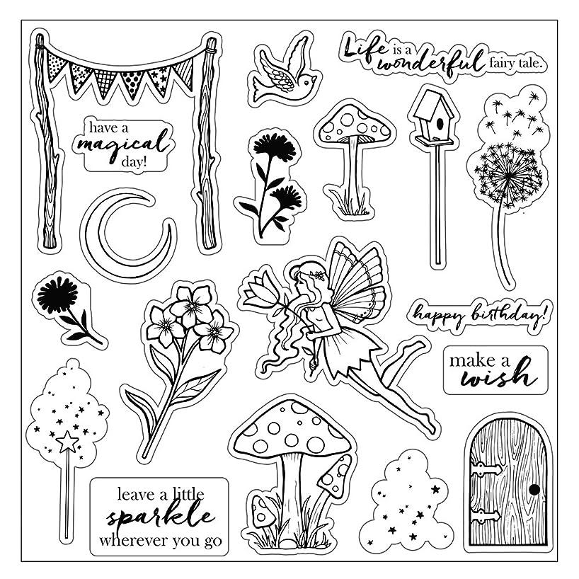 Fiskars Crafts 113570-1001 Fairy Garden 8x8 Clear Stamp