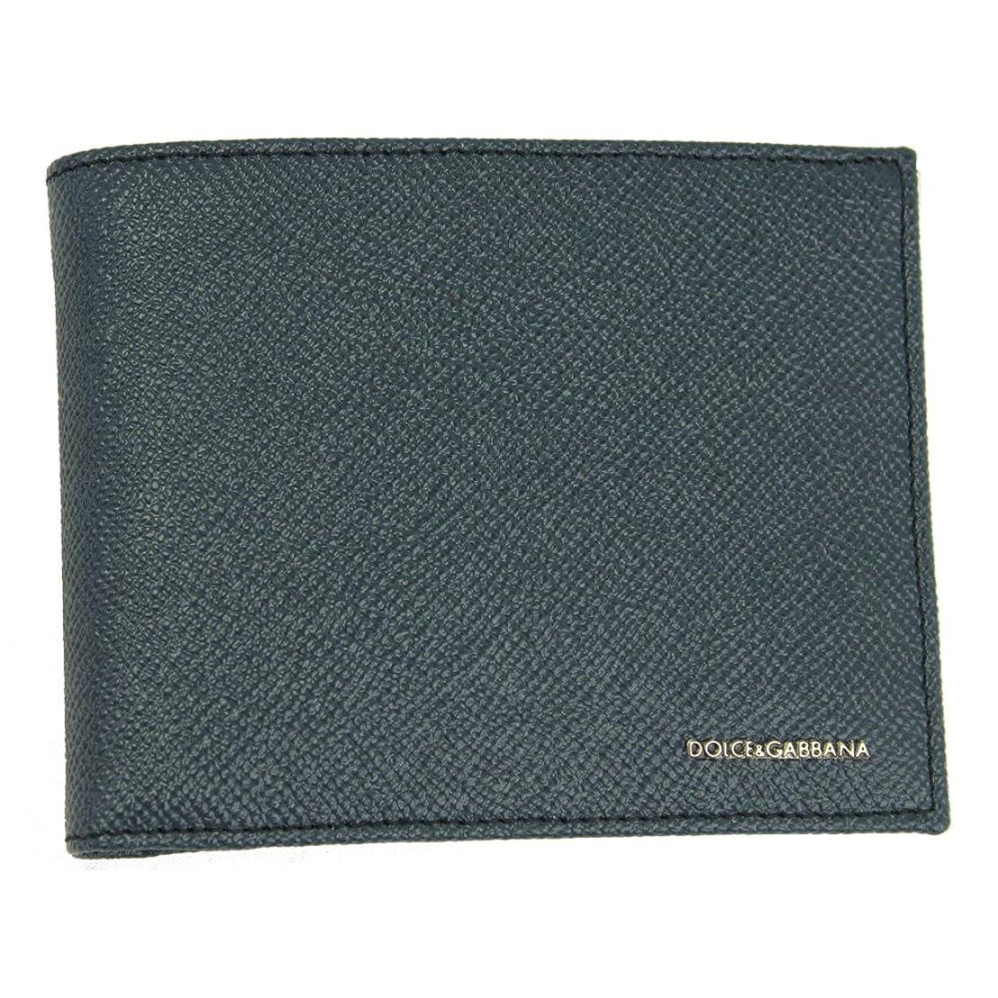 アジテーションバングスタッフDolce & Gabbana (ドルチェ&ガッバーナ)メンズブルーレザー二つ折り財布bp0457?b34321?80653