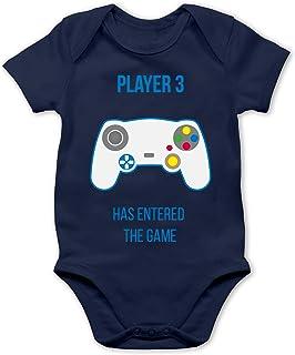 Shirtracer Up to Date Baby - Player 3 Has Entered The Game Controller weiß - Baby Body Kurzarm für Jungen und Mädchen