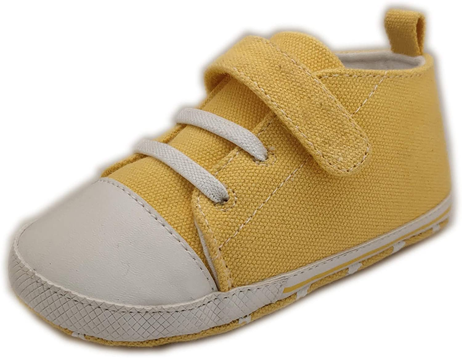 Baby Boys Girls Canvas Toddler Shoes Sneakers with Anti-Slip Soft Sole First Walking Crib Shoe
