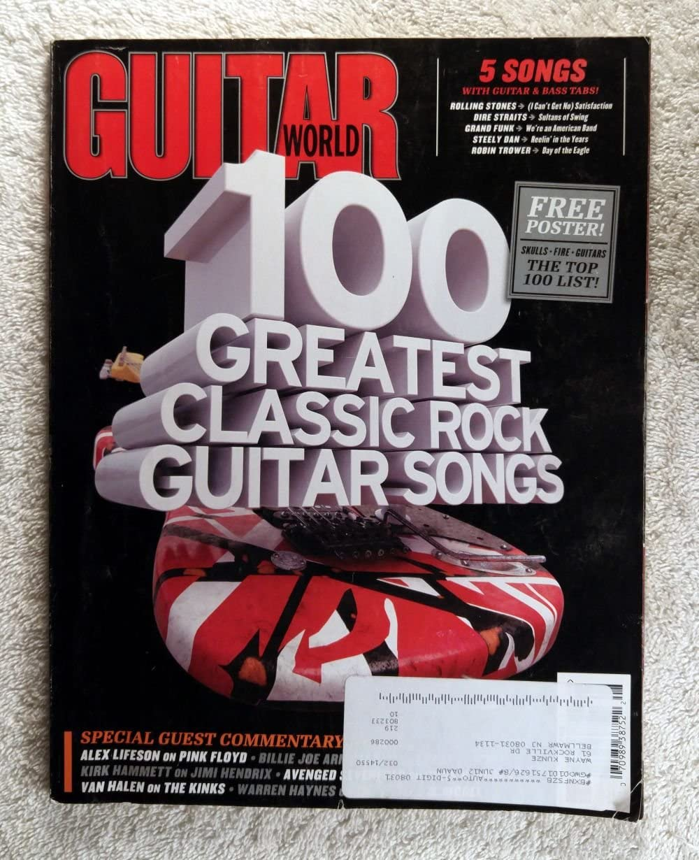 100 Greatest lowest price Classic Rock Guitar Raleigh Mall Songs Magazine World -