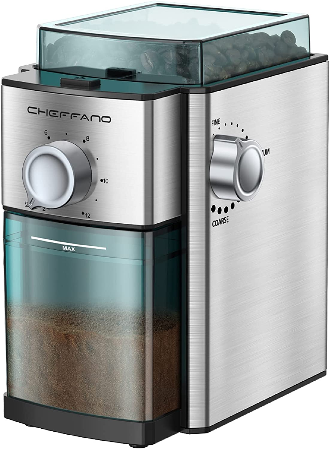 Burr Coffee Grinder With 14 Precise Adj Settings All items free shipping Max 80% OFF Grind 2-12 cup