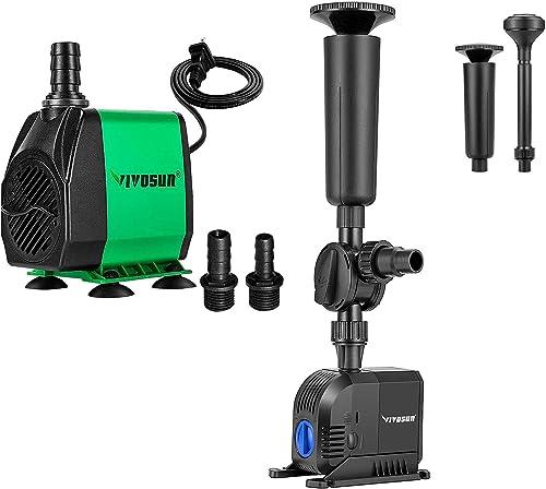 discount VIVOSUN 800GPH Submersible Pump high quality & 660GPH Fountain Pump, Ultra Quiet Water Pump for Fish Tank, Aquarium, Statuary, lowest Hydroponics sale