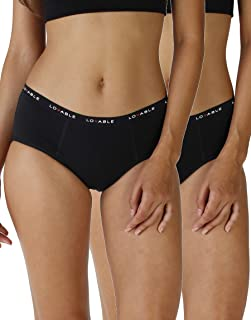 Lovable Period Panties Culotte da Ciclo Mestruale Flusso Medio (Pacco da 2) Donna