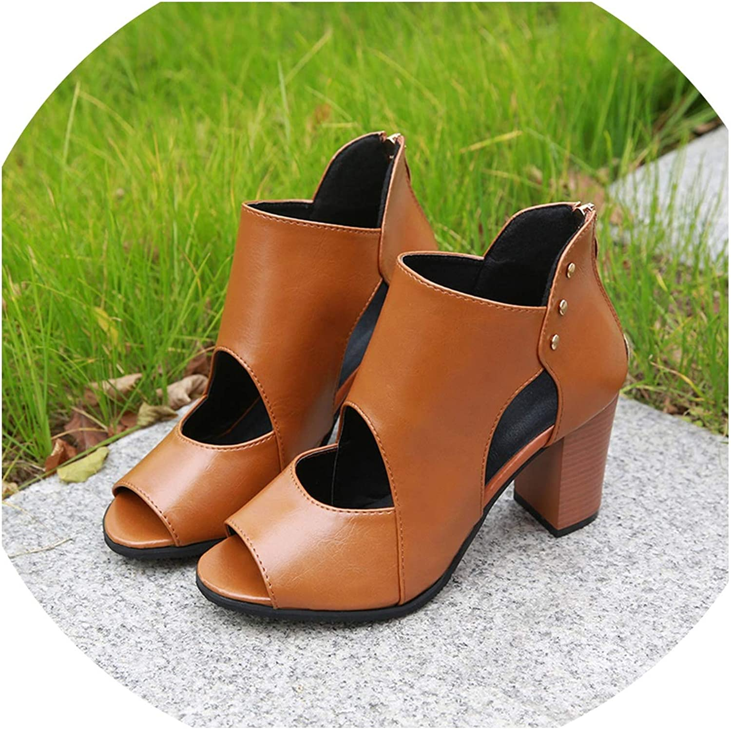 SHINe-Island Sexy Women Sandals Gladiator High Heels Leather Pumps Summer Open Toe Sandalias women Plus Size