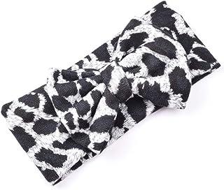 Aiihoo Baby Girls Turban Bow Leopard Print Princess Hair Band Accessories Headwear