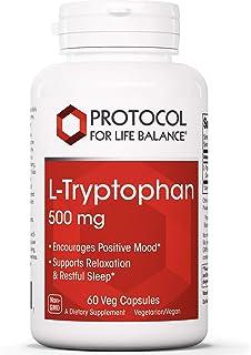 Protocol For Life Balance - L-Tryptophan 500 mg - 60 Veg Capsules