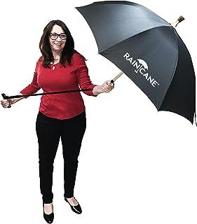 Walking Cane Umbrella by RainCane - 2 in 1 Design - Lightweight, Windproof, Heavy Duty Frame - Best Umbrella Cane for Elderly - Walking Stick Umbrella (Blue)