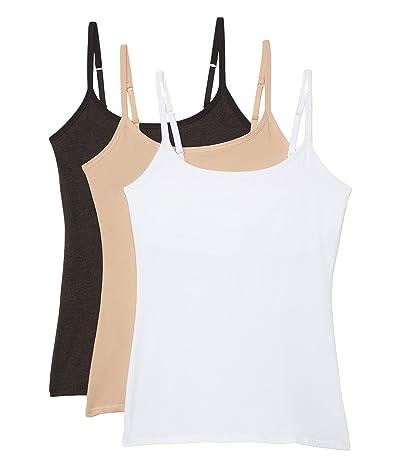 PACT Organic Cotton Shelf Bra Camisole 3-Pack