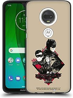 Head Case Designs - Carcasa de gel para Motorola (diseño de Batman de TV de Batman con texto en inglés, color negro, compatible con Compatibilité: Motorola Moto G7 / G7 Plus