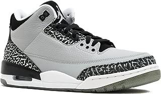 Nike Men's Air 3 Retro Wolf Grey/Metallic Silver/Blck/Wht Basketball Shoe 9 Men US