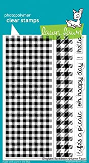 طوابع خضراء شفافة Lf847 خلفية من القماش القطني القطني