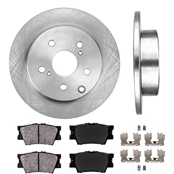 Front+Rear Cross Drilled Rotors /& Ceramic Pads for 2013-2018 Toyota RAV4 LE