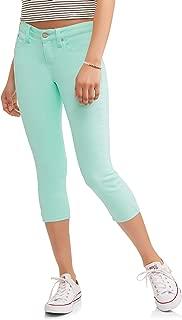 No Boundaries Juniors' Girls' Essential Soft Touch Capri Pants (Size 1, Misty Mint Green)