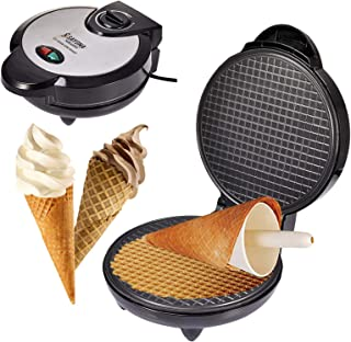 Hydron Gaufrier électrique, Rouleau de crème glacée, cône antiadhésif Dessert Plat de Cuisson Cuisine Cuisson Cadeau