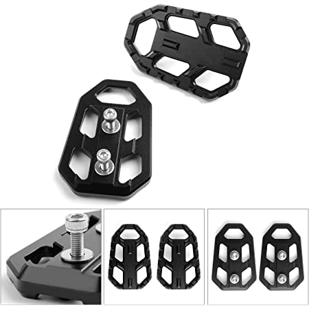 QIDIAN Motorcycle Footpegs Footrest Foot Rest Pedal Extension Plate for Kawasaki Versys X300 2017-2019 Versys 650 2010-2019 Versys 1000 2012-2019