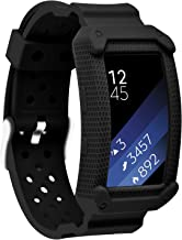 MORETEK Silicone Bracelet Replacement Band Strap for Samsung Gear Fit2 & Fit2 Pro Tracker Smartwatch (New Black)
