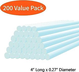 "Mini Hot Glue Gun Sticks (Huge Bulk Pack of 200) 4"" and 0.27 Diameter - Compatible with Most Glue Guns"